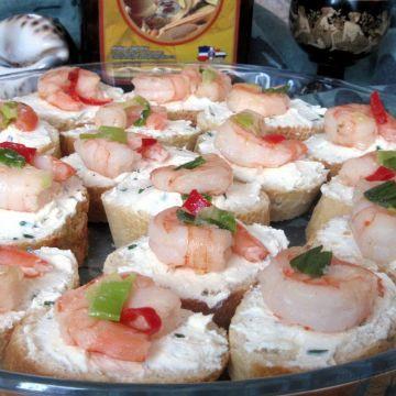 Krevetové jednohubky - Krevetové jednohubky - něco na oslavu