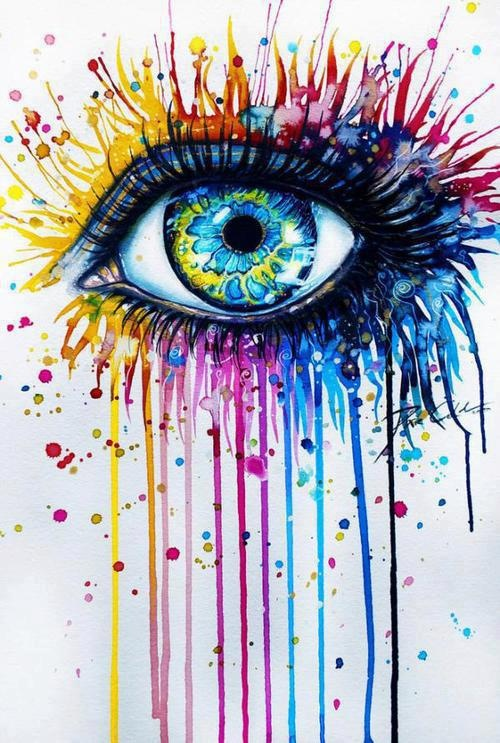Love this. I want my son to draw an eye then I will paint it.
