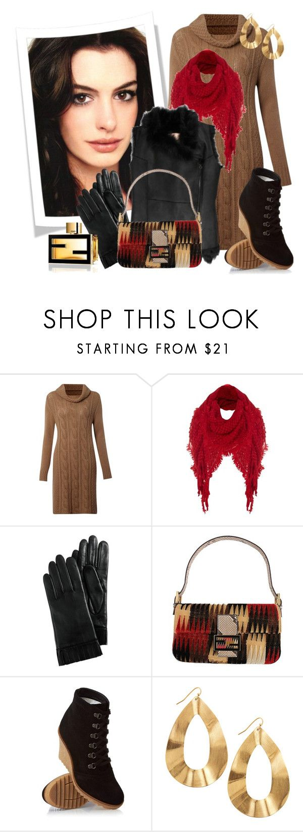 """Untitled #910"" by allib4sho ❤ liked on Polyvore featuring Weekend Max Mara, Jane Norman, Cole Haan, Fendi, ESPRIT, Panacea, fendi, studded scarves, gloves and handbag"