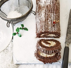 chocolate and chestnut yule log