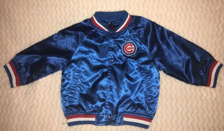Chicago cubs Baseball jacket boys 3T Blue Red White Mighty Mac Sports  | eBay