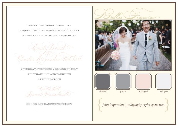 Choosing The Best Calligraphy Style For Your Letterpress Wedding Invitations