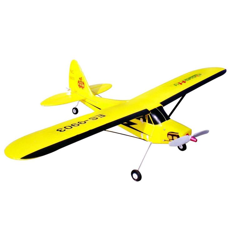 Piper J3 Cub 610mm Brushless 4 Channel PNP Mini Park Flyer RC Airplane - Yellow #EasySky