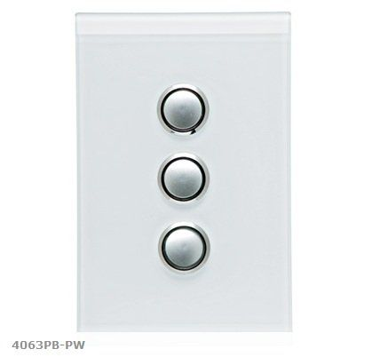 Clipsal Saturn Glass Range 3 Gang Switch with LED - Pure White ($67.43)