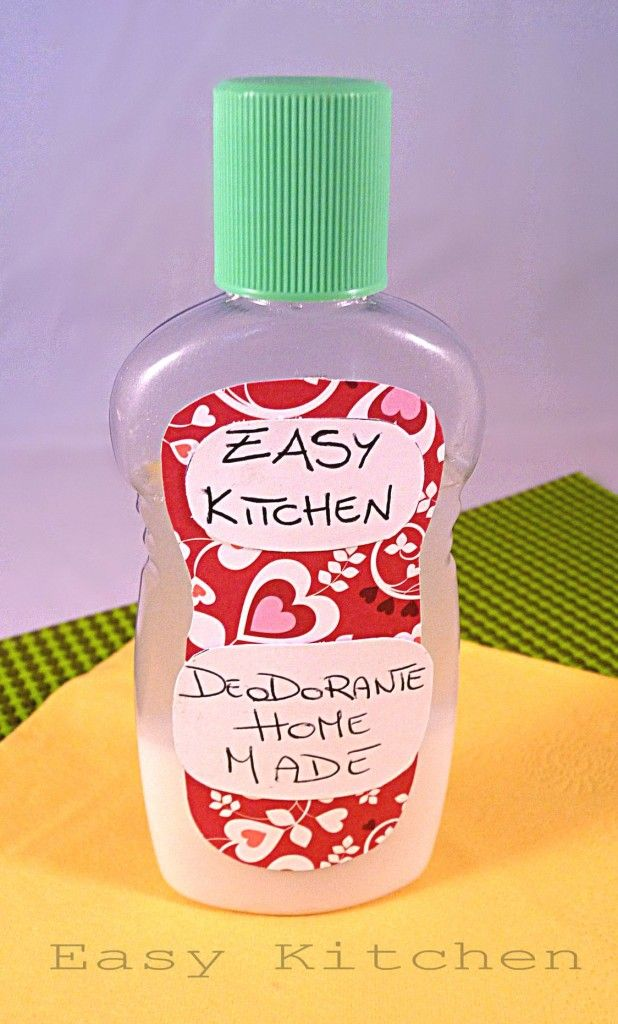 Deodorante home made per la persona ricetta fai da te collaudata