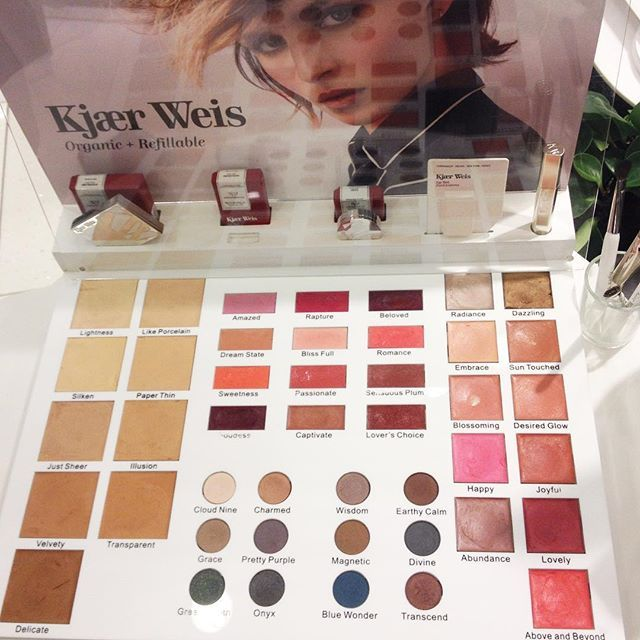 """Creamy dreams: I spotted Kjaer Weis and her gorgeous cream textures at KaDeWe in Berlin. And uhh yes, the liptint """"Lovers Choice"""" would still be my first choice. <3 #greenbeautybar #KaDeWe #kjaerweis #range #spotted #Berlin #february #liptint #loverschoice #redlips #creamy #makeup #blush #eyeshadow #foundation #loveit #naturkosmetik #naturalbeauty #luxury #organic #greenbeauty #cosmetics"""