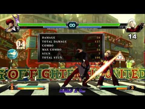 King of Fighters XIII - Special '98 Purple Flame Iori combo tutorial #KOFXIII