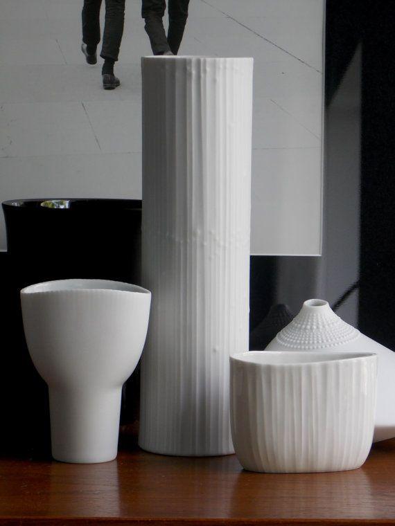 Rosenthal Vase White Vase Tapio Wirkkala Vase by MidCenturyFLA
