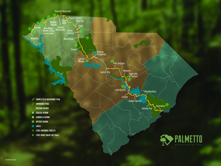 The Palmetto Trail http://palmettoconservation.org/
