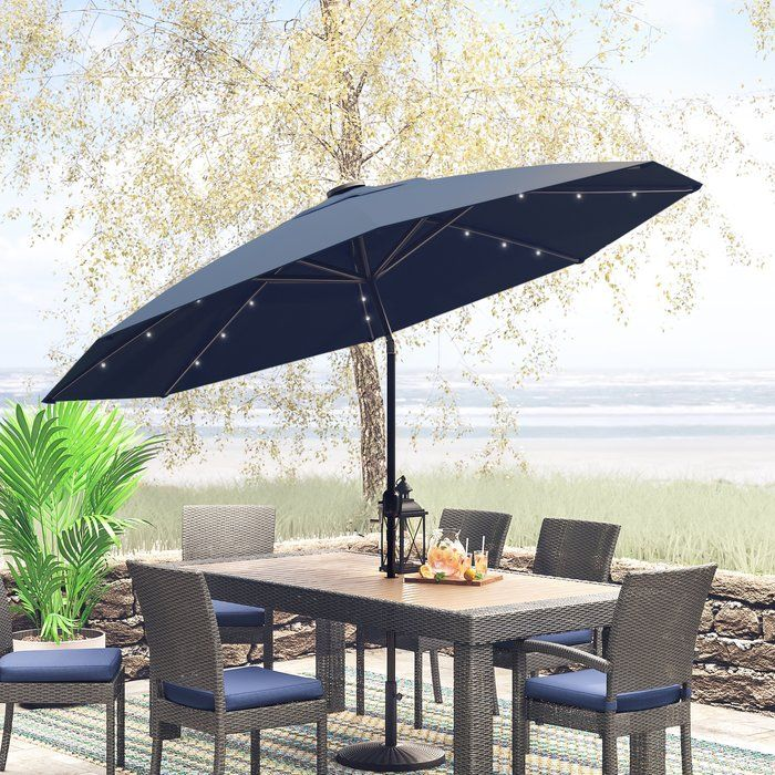 Jericho 9 Lighted Umbrella Market Umbrella Offset Patio Umbrella Umbrella