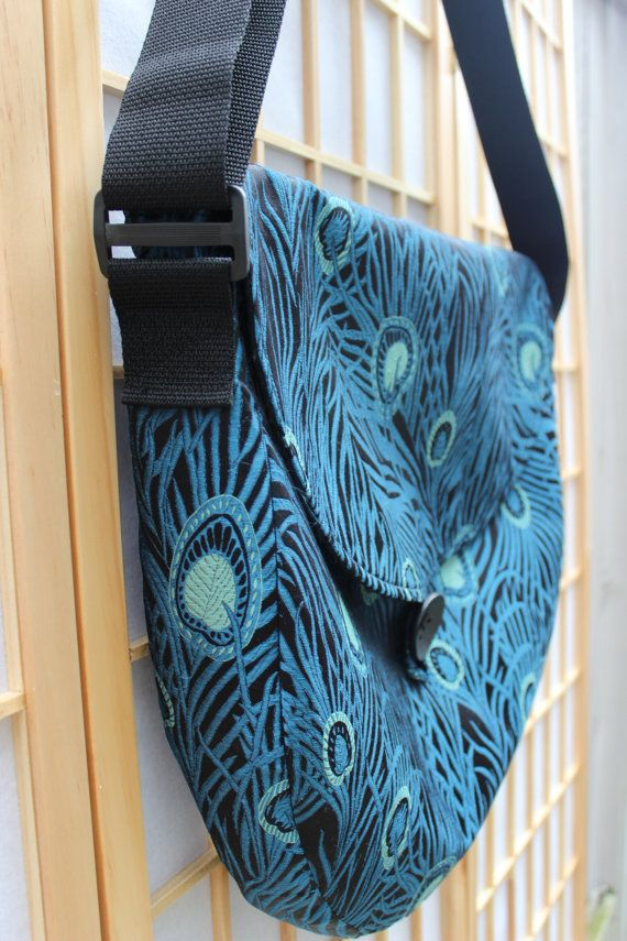 Satiny Peacock feather shaman drum bag fits 15 by HeartBeatGoods