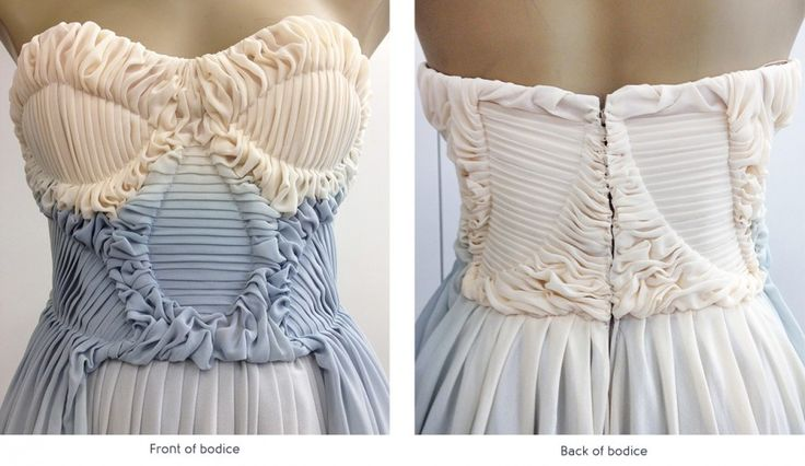 fabric manipulation technique by Alexa Liss