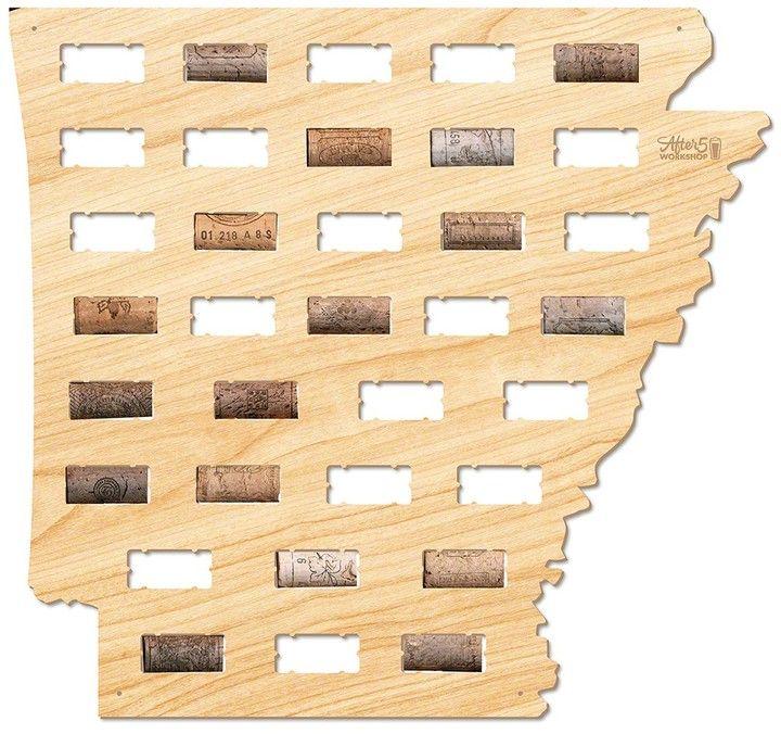 AFTER 5 Arkansas Wine Cork Map