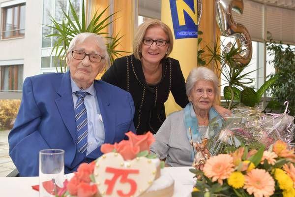 NÖ - LH Mikl-Leitner gratulierte Ehepaar Habacht zur Kronjuwelenhochzeit Großes Vorbild für uns