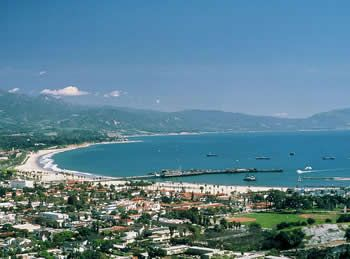 Santa Barbara - Cabrillo and East beaches, and Stearns Wharf