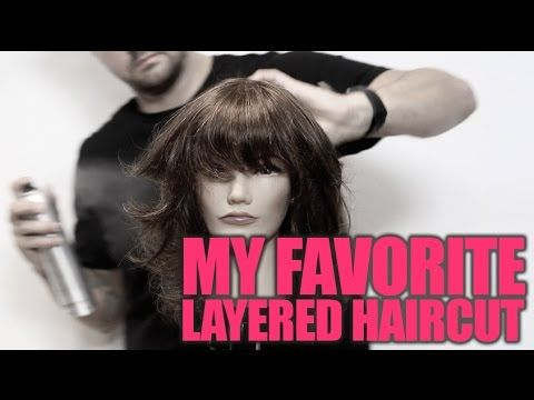 How To Cut My FAVORITE Layered Haircut with a Shattered Bang Step By Step - YouTube