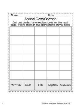 Animal Classification and Animal Characteristics Sorts FREEBIE!