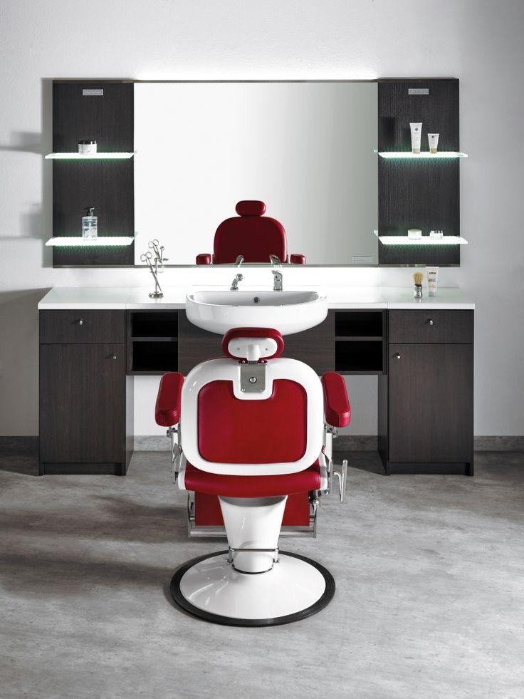 17 migliori idee su saloni di parrucchieri su pinterest for Arredamento barbiere