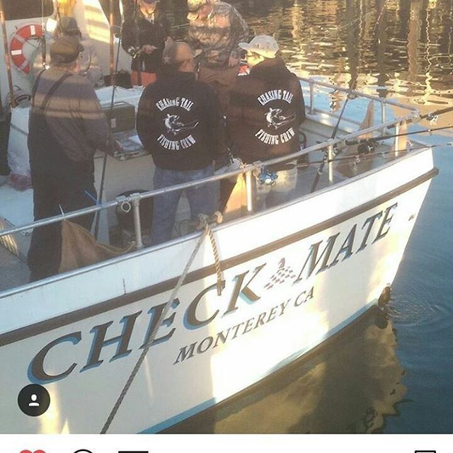 The Boys and crew members @cali_ling_king and @beekter1 getting all loaded amd ready to kill some fish... up north. .. 831 area.... thanks to crew member @solexcollector831 for the awsome picture... #CHASINGTAILFISHINGCREW #CHECKMATESPORTFISHING #MONTEREYCALIFORNIA #montereylocals - posted by Chasing Tail Fishing Crew https://www.instagram.com/chasingtailfishingcrew - See more of Monterey, CA at http://montereylocals.com