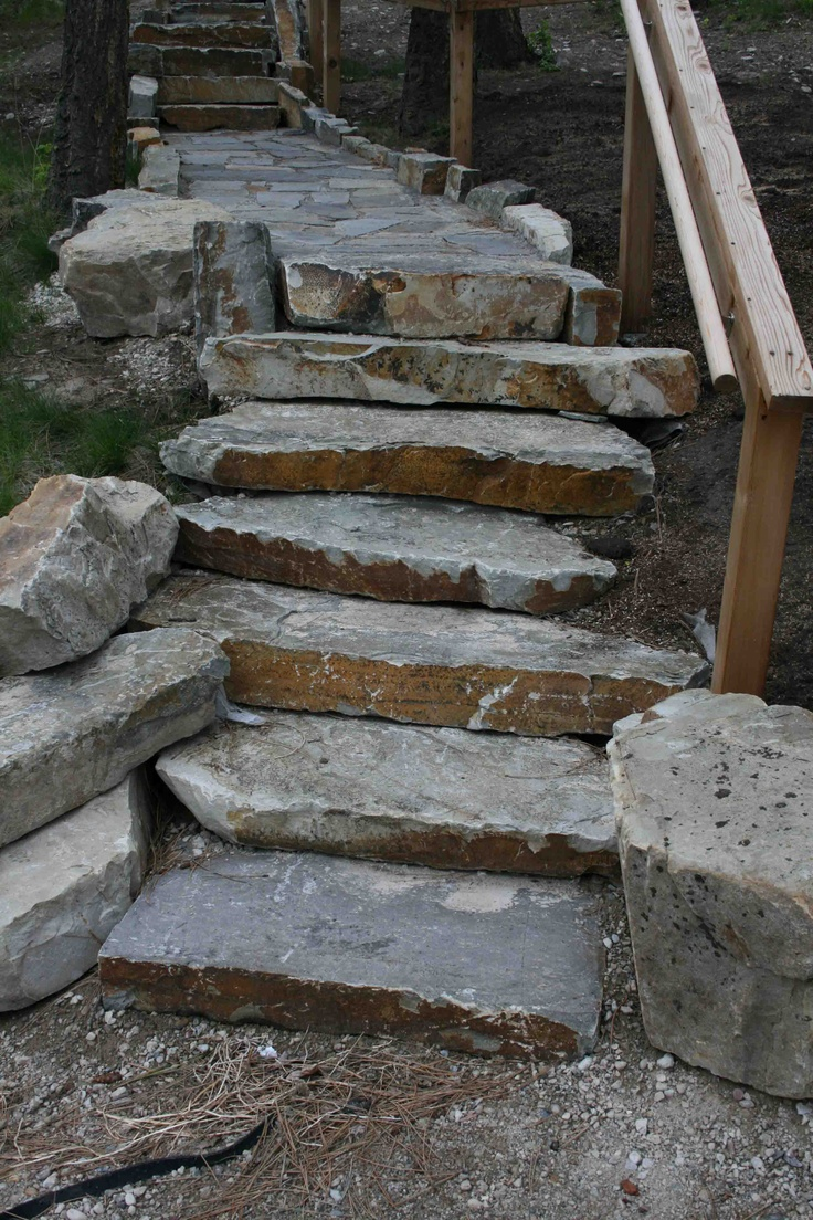 Natural Stone Steps : Best images about steps walls on pinterest montana