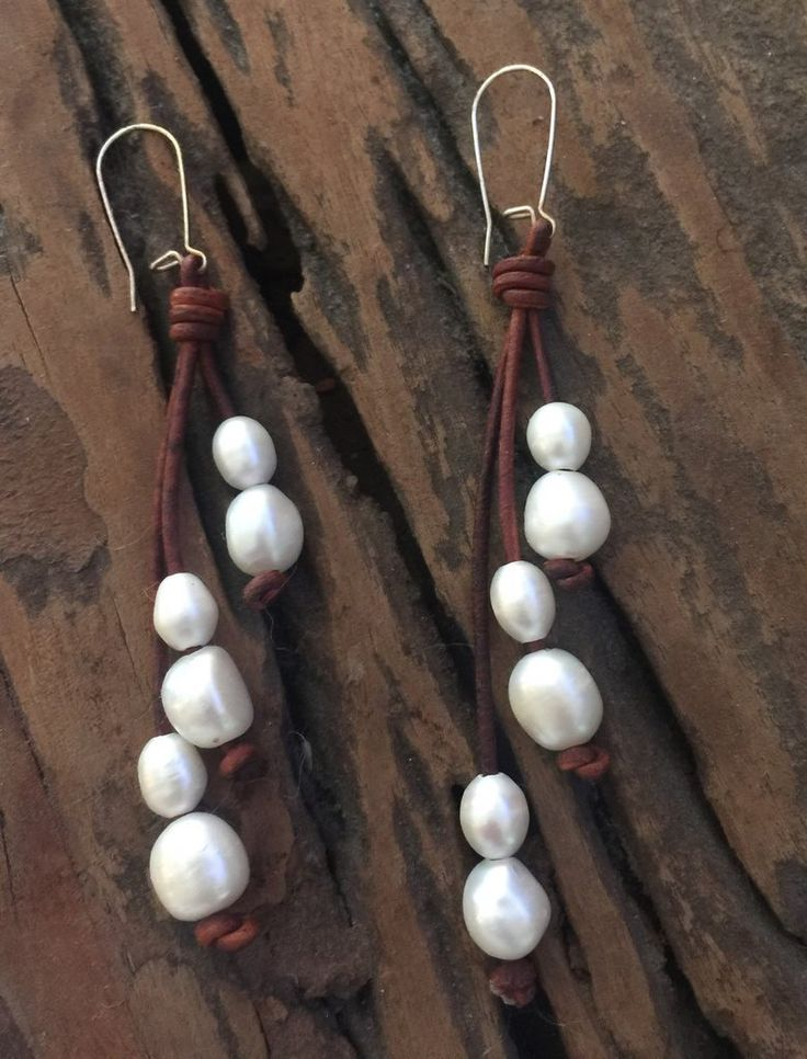 38 best leather and pearls images on pinterest for Best glue for pearl jewelry