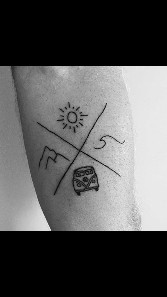 tattoo i'm in love❤️❤️ beautiful berge sonne welle vwbus                                                                                                                                                     Mehr