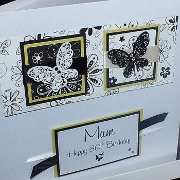Vintage Butterflies Boxed Birthday Card - an ideal card for a special mum, daughter or sister for an 18th, 21st, 30th, 40th birthday