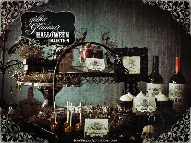 gothic victorian halloween bling party halloween party ideas - Victorian Halloween Decorations