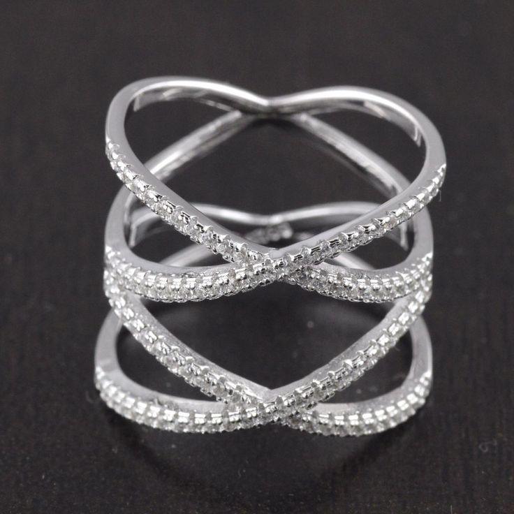 Womens Criss Cross Rings