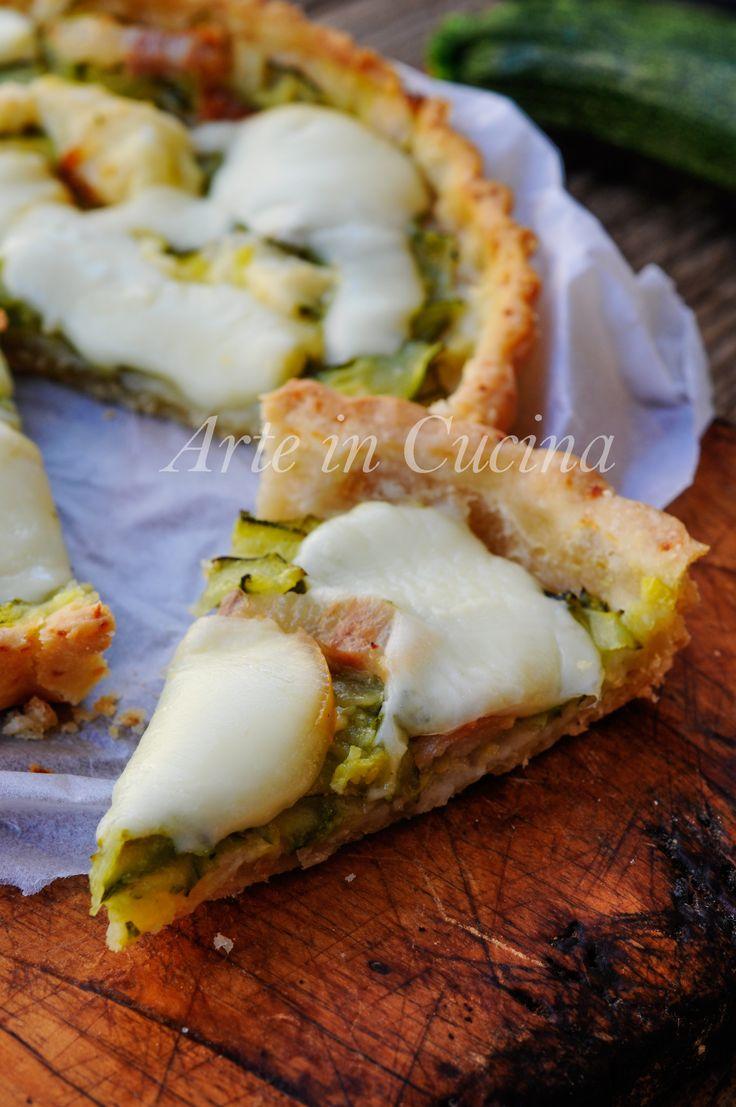 Crostata di patate con zucchine e pancetta veloce vickyart arte in cucina