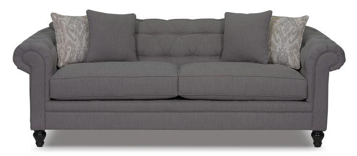 Julia Chenille Sofa Grey The Brick Home Reno Pinterest Sofas Living Room Sofa And