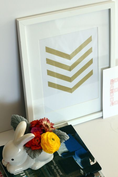 swoon studio: Fun with tape.this is super easy and can be done in seconds with washi tape