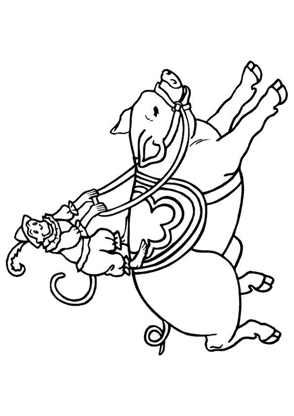 Les 48 meilleures images du tableau coloriages de cirque sur pinterest coloriages coloriage - Dessin d un cochon ...