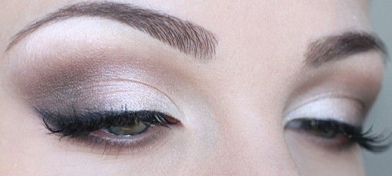 Beautiful accented natural eye makeup for the day of our wedding