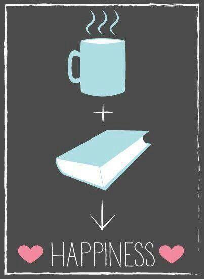 Un bon livre + un thé ou un café = que du bonheur !: