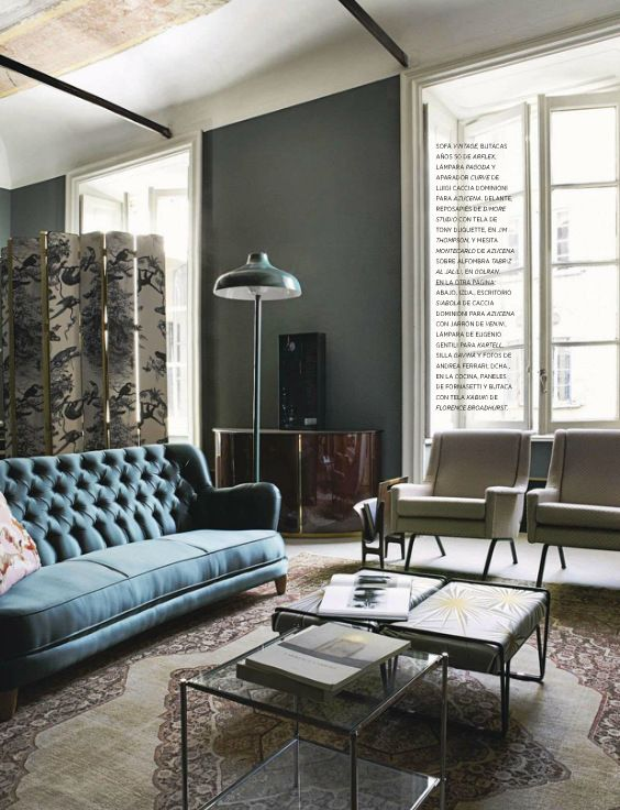 Vintage Style living room from AD Spain