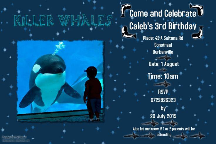 Killer whale invite..