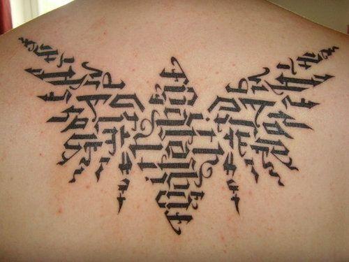 Back Ambigram Tattoo