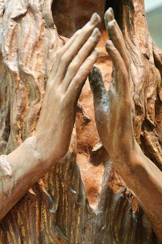 The hands of Mary Magdalene by Donatello, Museo dell'Opera del Duomo, Florence