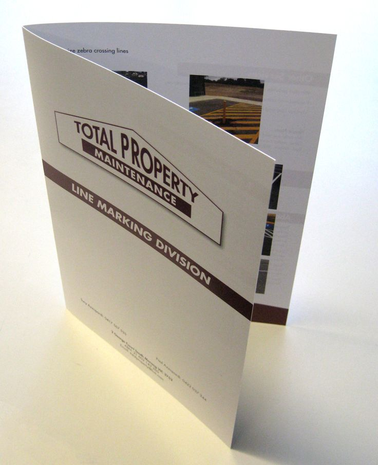 300gsm Service Guide for Total Property Maintenance.   Sometimes thicker cardstock might suit your purpose. As a Melbourne printer we can advise you on the best stock for your particular project. #Melbourneprinter #printermelbourne #booklets #promotion #melbournebusiness #graphicdesign