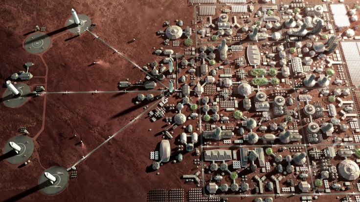 SpaceX Mars City large astronomykit Mars colony, Elon