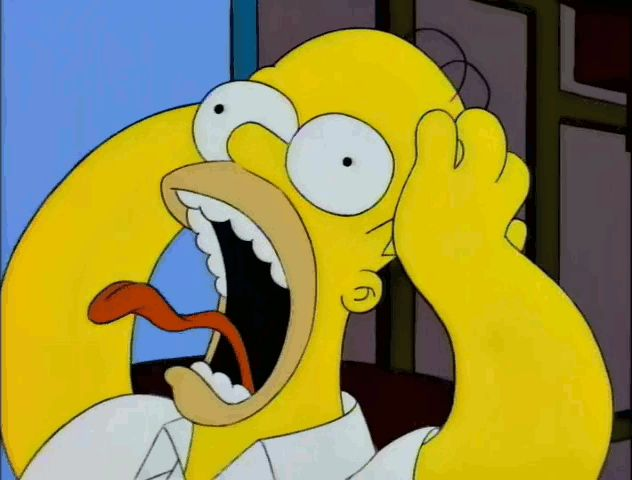 New party member! Tags: homer simpson the simpsons simpsons homer scream bart screaming brain years yelling oh no yell freaking out
