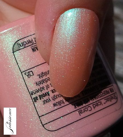 Iced Coral - Shellac  This color would be pretty to do a french tip with too!!