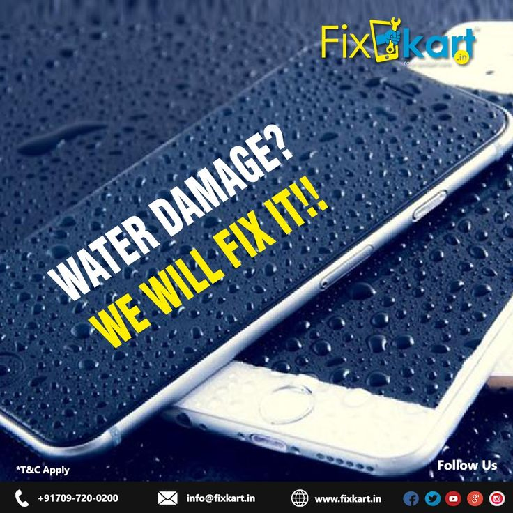 Did your phone get wet due to the rain? We can fix your