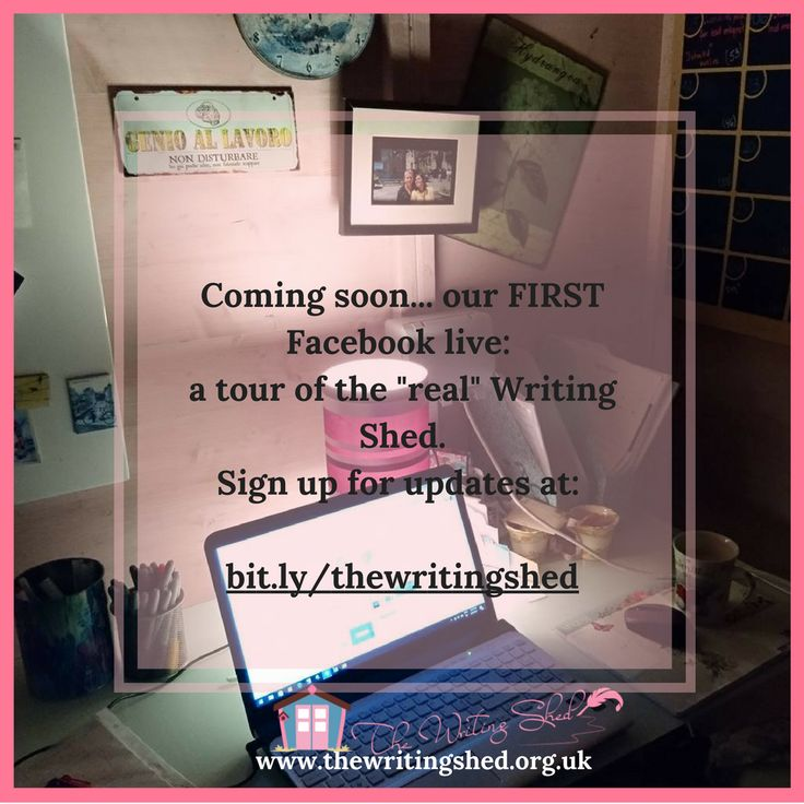 "Sign up and be the first to know when our FIRST #FacebookLIVE is with a tour of #thewritingshed (the ""real"" one!) #homeofficeideas #gardenshed #summerhouses"