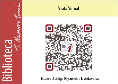 Código QR de acceso a la visita virtual de la Biblioteca Tomás Navarro Tomás.
