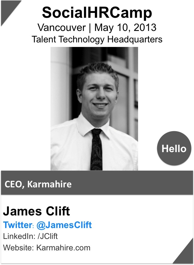 JAMES CLIFT has built 2 companies, and understands first-hand the importance of attracting top talent.  Currently, he is the founder and CEO of KarmaHire, a hiring platform that helps businesses pool recruiting resources and bridges the gap between talent and opportunity.  As the CEO of a web startup, he wears many hats—from recruiting top talent to writing code. His mission is to build the tools and platform that create the future.