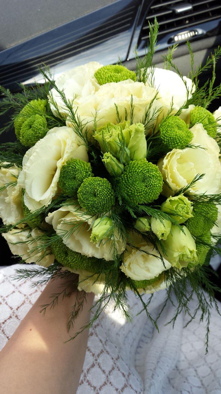 #bouquet #simplebouquet #whitegreenbouquet