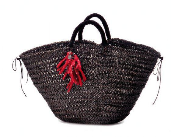 Straw bag by Ottavia Failla.