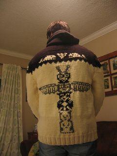 Mary Maxim Men's No. 415 Totem Pole sweater jacket